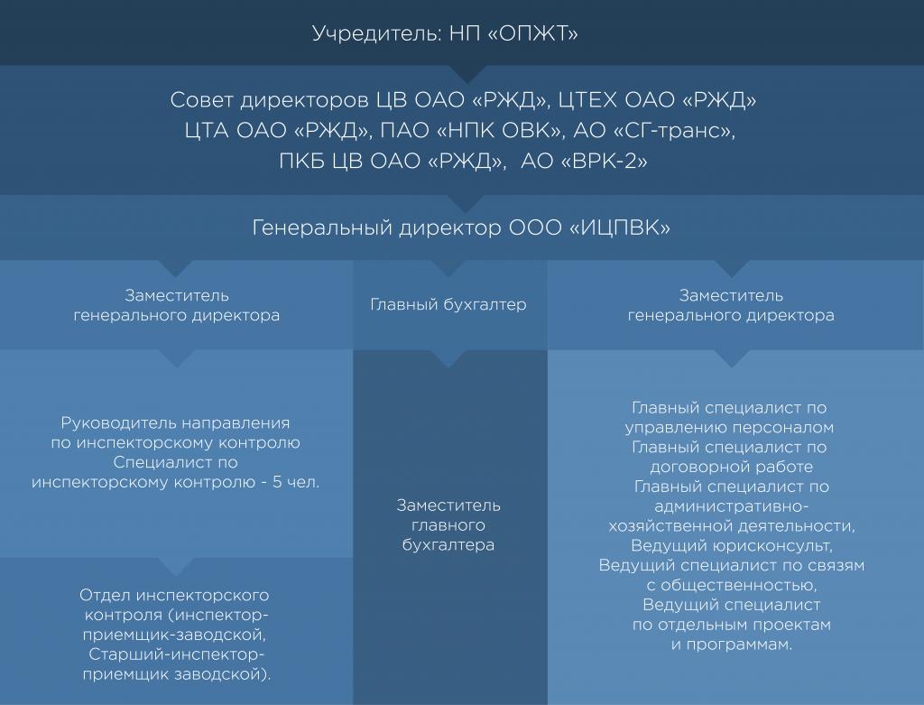 структура компании ицпвк